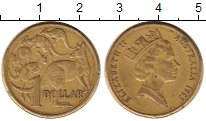 Монета Австралия 1 доллар Латунь 1985